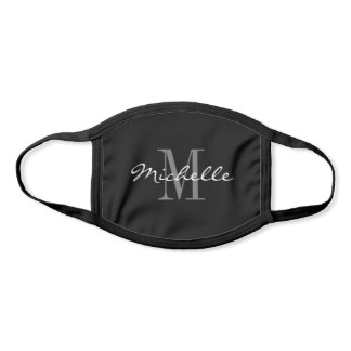 Small adult face mask with custom name monogram