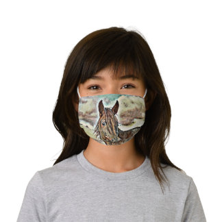 smartmix animal- horse 2 kids' cloth face mask