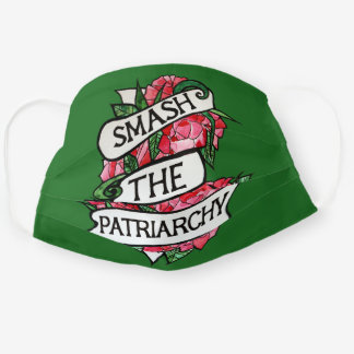 Smash the Patriarchy Feminist Roses Cloth Face Mask