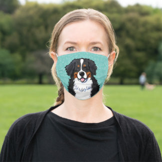 Smiling Bernese Mountain Dog Adult Cloth Face Mask