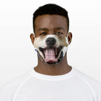 Smiling Bull Dog Adult Cloth Face Mask