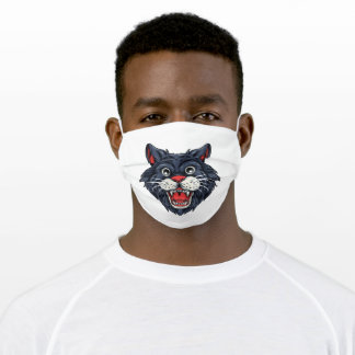 Smiling cat adult cloth face mask