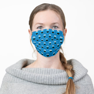 Smiling Cookie Monster Pattern Adult Cloth Face Mask