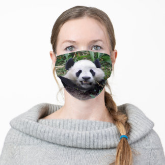 Smiling Panda Bear & Giant Panda /China Adult Cloth Face Mask