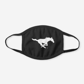 SMU Mustangs Logo Black Cotton Face Mask