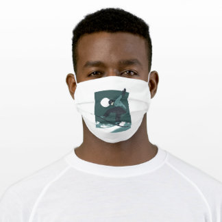 Snowboarding Mountain Sports Gift Adult Cloth Face Mask