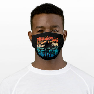 Snowboarding Retro Gift for Snowboarder Adult Cloth Face Mask