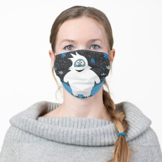 Snowie the abominable snowman adult cloth face mask