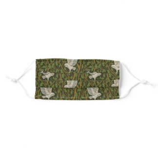 Snowy Owls and Foliage Forest Adult Cloth Face Mask