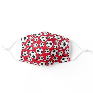 Soccer Ball Cute Sports Print for Kids Adult Cloth Face Mask