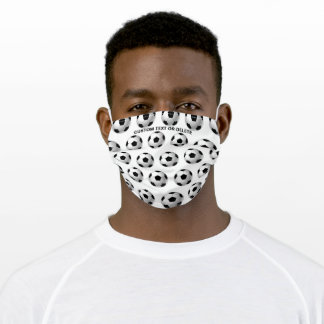Soccer Ball Pattern, Football Personalized Sports Adult Cloth Face Mask