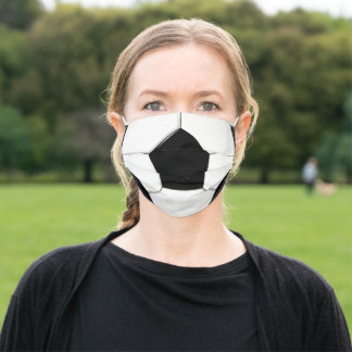 Soccer (Football) Player or Fan Soccer Ball Adult Cloth Face Mask