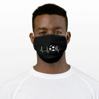 Soccer Hearbeat Adult Cloth Face Mask