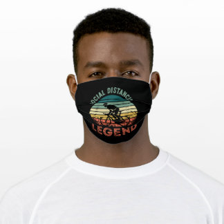 Social Distancing Legend Funny Cycling Adult Cloth Face Mask