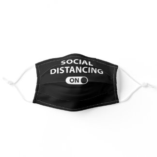 Social Distancing On Adult Cloth Face Mask
