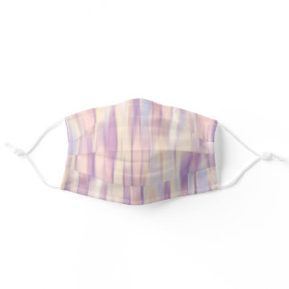 Soft Beige Violet Abstract Adult Cloth Face Mask
