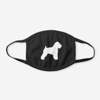 Soft Coated Wheaten Terrier Dog Breed Silhouette Black Cotton Face Mask