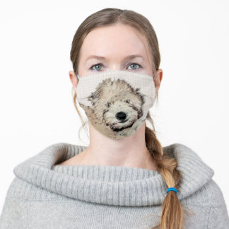 Soft-Coated Wheaten Terrier Puppy Painting Dog Art Adult Cloth Face Mask