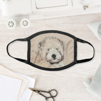 Soft-Coated Wheaten Terrier Puppy Painting Dog Art Face Mask
