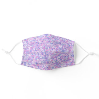 Soft Muted Groovy Pink and Purple Adult Cloth Face Mask