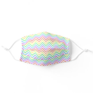 Soft Pastel Spring Colors Pattern Women's Girls Adult Cloth Face Mask