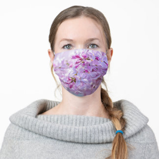 Soft Pink Beautiful Lilac Flowers Adult Cloth Face Mask