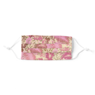 Soft Pink Pretty Floral Face Mask