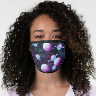 Solar System Glow | Cosmic Blue Purple Pink Planet Face Mask