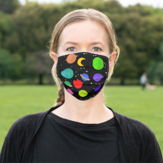 Solar System planets moon saturn stars for kids Adult Cloth Face Mask