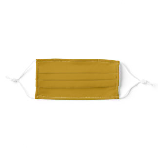 Solid Dark Goldenrod Color Cloth Face Mask