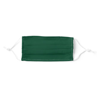 Solid Emerald Green Color Adult Cloth Face Mask