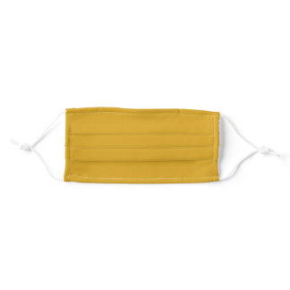 Solid Goldenrod Color Cloth Face Mask