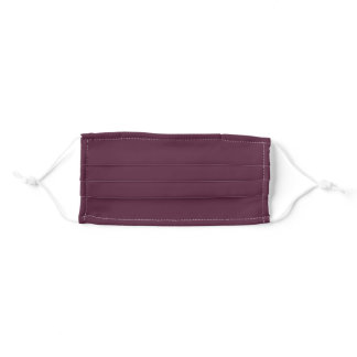 Solid Maroon Color Adult Cloth Face Mask
