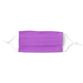Solid Medium Orchid Purple Color Cloth Face Mask