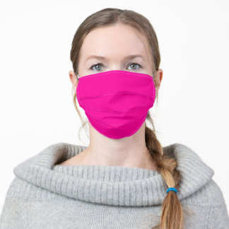 Solid Neon Pink Adult Cloth Face Mask