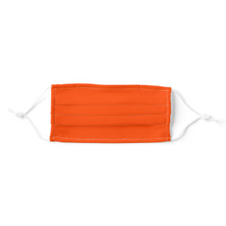 Solid Orange Red Color Cloth Face Mask