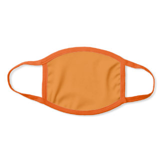 Solid Plain Orange Color Face Mask