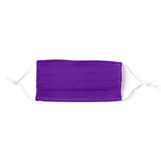Solid Purple Color Adult Cloth Face Mask