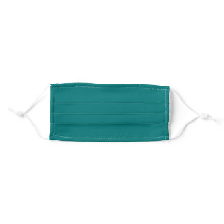 Solid Teal Blue Green Color Adult Cloth Face Mask