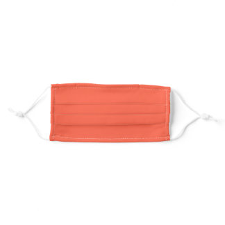 Solid Tomato Orange Color Cloth Face Mask