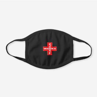 Solidarity Flag Of Switzerland Black Cotton Face Mask