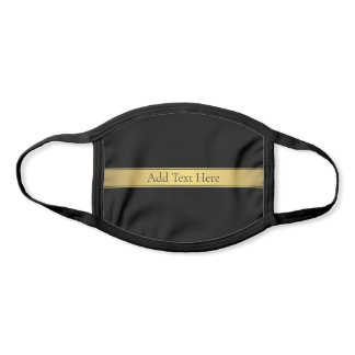 Sophisticated Faux Gold & Black Face Mask