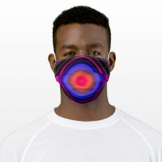 Sound Waves Cycles Voice Waving Liquid Light Vibes Adult Cloth Face Mask