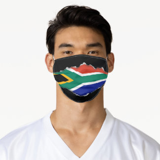 South African Flag | Faux Torn Out Look Adult Cloth Face Mask