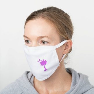 South Carolina Designer Pink Lady Face Mask