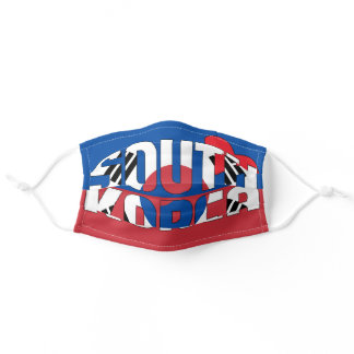 South Korea Flag Taegeuk Trigrams Red Blue Adult Cloth Face Mask