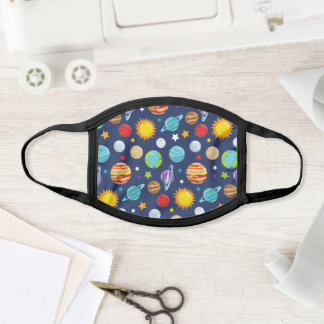 Space Pattern, Planets, Astronomy, Cosmos, Galaxy Face Mask