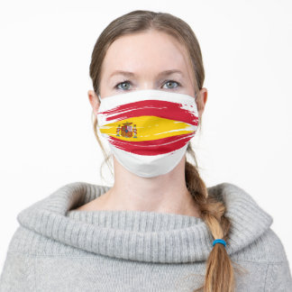 Spain Country Flag Adult Cloth Face Mask