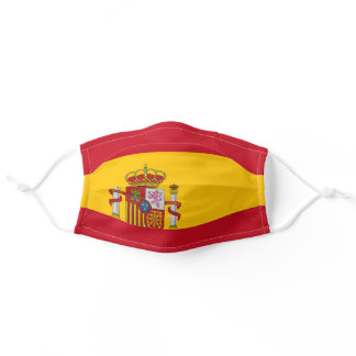 Spain flag mask, Spanish flag Adult Cloth Face Mask