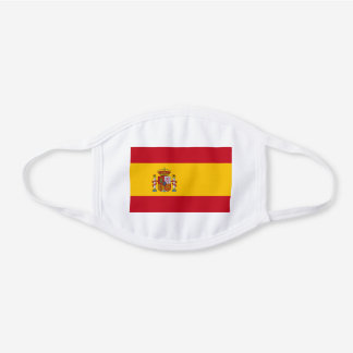 Spain Spanish Flag Unisex For Him Dad Son Hubby White Cotton Face Mask